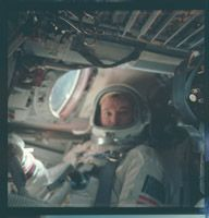 Michael Collins, Gemini X, 1966. (h/t http://asonlynasacan.tumblr.com/post/23289343207/spaceandstuffidk-tea-and-mango-juice )