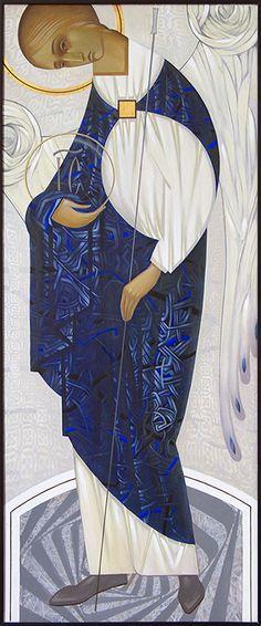 Archangel Michael contemporary icon by Oleksandr Ivolha