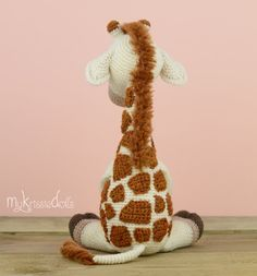 """Ravelry: Girafje Romy pattern by Kristel Droog yarn-over: """" Giraffe Romy pattern by MyKrissieDolls on Etsy< """" This is a crochet pattern (PDF file) NOT a finished doll you see on the photos! Crochet pattern available in: Deutsch, English, Español Crochets En Crochet, Crochet Amigurumi, Crochet Bear, Amigurumi Doll, Amigurumi Patterns, Doll Patterns, Crochet Animal Patterns, Crochet Doll Pattern, Stuffed Animal Patterns"""