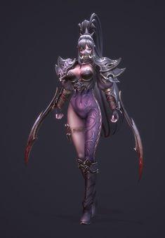 ArtStation - 3d character modeling (Assassin), jinho park Character Modeling, 3d Character, Character Concept, Concept Art, Character Design, 3d Modeling, Fantasy Inspiration, Character Inspiration, Fantasy Women