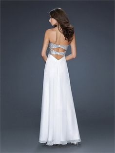 A-line Strapless Sweetheart with Sequins Floor Length Chiffon Homecoming Dress HD1487  http://www.homecomingstore.com