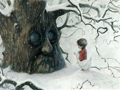 By Jean-Baptiste Monge.  Not a huge fan of the tree, but I think the little boy and goose are very cute. :)