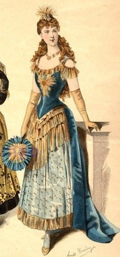 Mrs Bertin's Jewelry Box: Victorian Fancy Dress: Electric Light -This is one of my favorites. Vintage Outfits, Vintage Costumes, Vintage Dresses, Victorian Fancy Dress, Victorian Costume, Victorian Halloween, Victorian Era, Historical Costume, Historical Clothing
