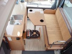 Micro Campers from WWW - Robert Morehead - Picasa Web Albums Camper Trailer Tent, Truck Camper, Rv Campers, Camper Van, Micro Campers, Van Conversion Plans, Camper Conversion, Van Interior, Camper Interior