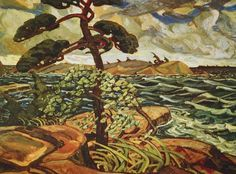 Arthur Lismer A September Gale Georgian Bay, Canadian Group of Seven Group Of Seven Art, Group Of Seven Paintings, Canadian Painters, Canadian Artists, Tom Thomson, Museum Studies, Canada Images, Art And Craft Design, Landscape Paintings