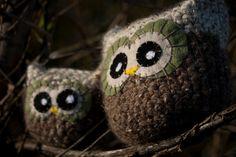 Owl Amigurumi - Brown And Tan, Cabin Decor, Pillow, Plush, Made To Order. $18.00, via Etsy.