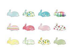 Rabbits all over illustration - Yael Berger