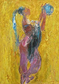 Doinaru Mircea (n.1960) Baiadera / Bayadere Painting, Art, Feral Cats, Stones, Art Background, Painting Art, Kunst, Paintings, Performing Arts
