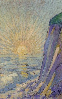 Sunrise on the Sea, Camille Pissarro, Impressionism. Art Painting, Fine Art, Camille Pissarro Paintings, Fine Art Painting, Camille Pissarro, Painting, Painting Reproductions, Art Movement, Canvas Art