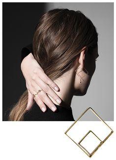 Tendance: des bijoux graphiques au carré   Vogue