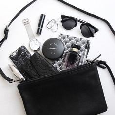 "Cecilie Krog | BYKROG på Instagram: ""A little peek of what's in my bag  // #inmybag #elnett God I want to win the YSL monogram chain bag ! """