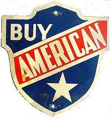 Buy American sign