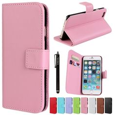 iPhone 6 Plus Case KINGCOOL(TM) Premium PU Leather Wallet Type Stand Case Cover with Megnetic Closer & Card Slots for Apple iPhone 6 5.5 Inch(Pink) Specially designed for Apple iPhone 6 plus 5.5 inch Made of high quality PU leather material+magnetic flip design Includes slots to store your credit cards / business cards Provides great protection with easy installation Full access to all functions