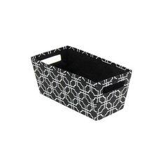b in 6.5 in. x 5.8 in. x 13.3 in. Decorative Fabric Quarter Storage Bin in Nautical Knot (4-Pack)-BIN-3961260075-4 - The Home Depot