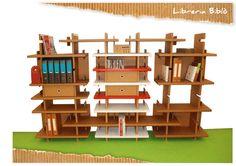 cardboard office bookcase