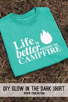 Glow in the Dark Shirt DIY Glow in the Dark Camping Shirt - Can this be any truer?DIY Glow in the Dark Camping Shirt - Can this be any truer? Camping Glamping, Camping Life, Camping Hacks, Camping Signs, Camping Theme, Women Camping, Camping Trailers, Camping Stuff, Camping Checklist