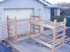 Twin quad bunk bed