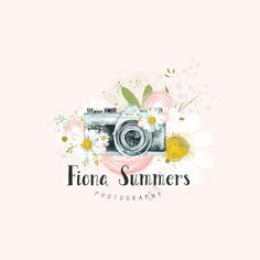 Premade Logo Camera Logo Boho Photography by LaughingWillowDesign