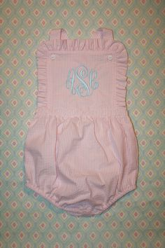 Monogrammed Seersucker Sun Bubble. $45.00, via Etsy.  Oh my baby girl would live in these bubbles if possible!