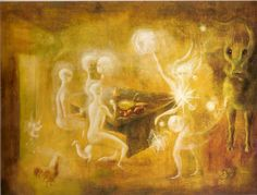 sidhe - the white people of the tuatha de danann. Leonora Carrington, 1954.