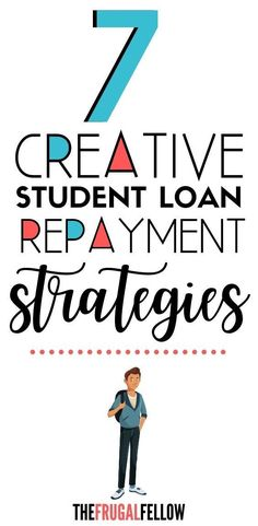 Do you need to repay student loans? Use these 7 creative ways to pay off student loans to help you get out of debt. #studentloans #studentloandebt #getoutofdebt #debtpayoff Federal Student Loans, Paying Off Student Loans, Student Loan Debt, Pay Loans, Ways To Save Money, Money Saving Tips, Money Tips, Student Loan Repayment, Debt Repayment