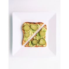 Once again inspired by @daedal_lives, whole grain toast with avocado and pickles- so good!  #healthyseptember #Padgram