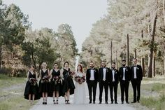 This wedding at The Flour Factory features a moody spin on modern romance, breathtaking florals in shades of crimson, and a fab romantic bridal style. Hipster Wedding, Red Wedding, Wedding Colors, All Black Fashion, Modern Wedding Inspiration, Church Ceremony, Modern Romance, Wedding Bridesmaids, Bridesmaid Dresses