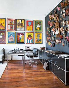 Dieses Möbelbausystem eigent sich perfekt fürs Arbeitszimmer. Klare Linien und edeles Design von USM Möbelbausysteme.