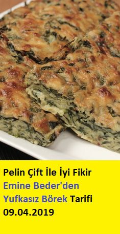 Pelin Çift İle İyi Fikir Emine Beder'den Yufkasız Börek Tarifi – Vegan yemek tarifleri – Las recetas más prácticas y fáciles Breakfast Recipes, Dinner Recipes, Dessert Recipes, Desserts, Pastry Recipes, Cooking Recipes, Healthy Recipes, Turkish Breakfast, Food Articles