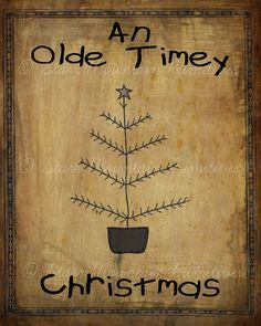 Primitive Olde Timey Christmas Feather Tree Pantry Logo Jpeg Digital File for Crock  Jar, Labels, Pillows and more!