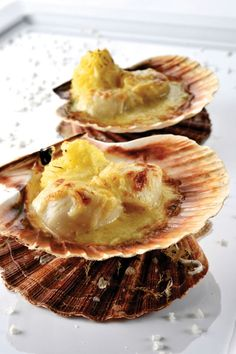 Coquille St Jacques, Belgian Food, Meatball Recipes, Fish Dishes, Food Inspiration, Tapas, Seafood, Food And Drink, Appetizers