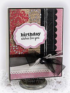 Beautiful, elegant birthday card.