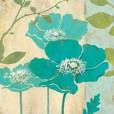Modern Blue Poppy