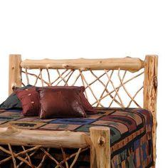 Fireside Lodge Traditional Cedar Log Open-Frame Headboard Size: California King, Finish: Vintage Finish