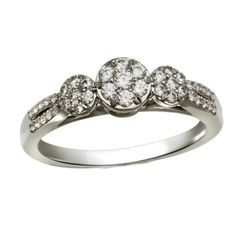 3 Diamond Promise Ring in 14K Pink Gold 1//20 cttw, G-H,I2-I3 Size-9.75