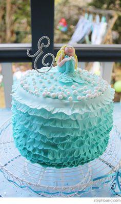A Mermaid Birthday Party! Torta Baby Shower, Tortas Baby Shower Niña, Baby Shower Niño, Adult Party Themes, Birthday Party Themes, Birthday Ideas, 3rd Birthday, Birthday Cakes, Party Sweets