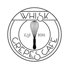 Whisk Crêpes Café and Whisk & Eggs are the creation of Parisian-born and raised Julien Eelsen in Dallas, Texas. Bakery Branding, Branding Design, Logo Design, Ci Design, Restaurant Names, Restaurant Design, Logo Patisserie, Crepe Cafe, Pastry Logo