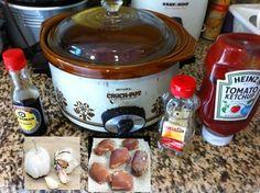 Crock pot Honey Garlic Chicken - Boneless Skinless Chicken Thighs, Honey, Garlic, Ketchup, Soy Sauce