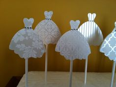 WEDDING DRESS CUPCAKE Toppers Wedding by CreationsbyColett