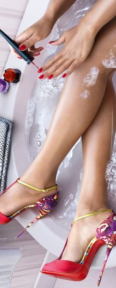 """Christian Louboutin Spring/Summer 2015 Collection """"Water in Love""""."""