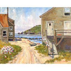 """Chip Hemingway """"Fish Beach, Monhegan Island, Maine"""""""