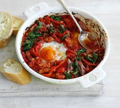 Serve this adaptable Mexican-style dish for brunch, breakfast or dinner with spicy tomato sauce
