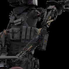 CPER Soldier 人類滅亡預防部隊 (Anti-AI) on Behance by Kun DongMore robots here.
