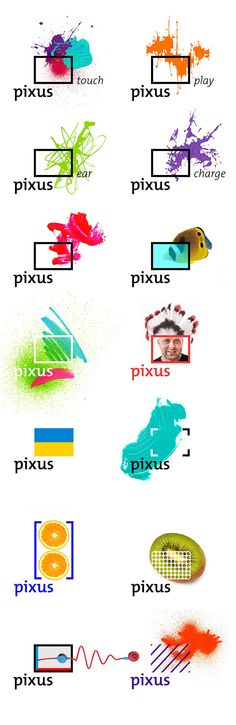 Pixus logo on Behance | by Pixus - nice inspiration for a graphic design of a flexible corporate identity.