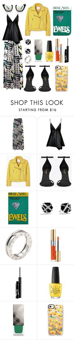 """CES"" by xxelectre on Polyvore featuring moda, Valentino, MANGO, Yves Saint Laurent, David Yurman, Bulgari, OPI, Burberry, Casetify e Miu Miu"