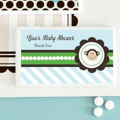 Blue Monkey Party Personalized Mini Mint Favors (set of 24)