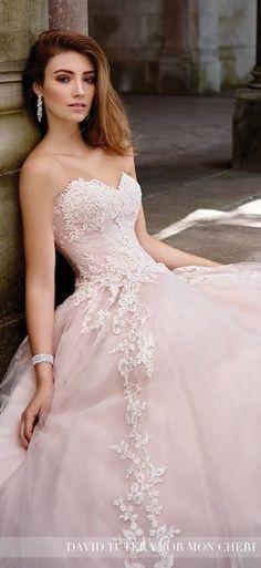 Blush Wedding Dress - David Tutera for Mon Cheri Spring 2017