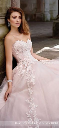 Blush Wedding Dress - David Tutera for Mon Cheri Spring 2017