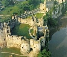 the oldest castle in the uk, chepstow castle built in 1068, wales