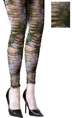 Ghost Stories Footless Tights for Adults - Party City